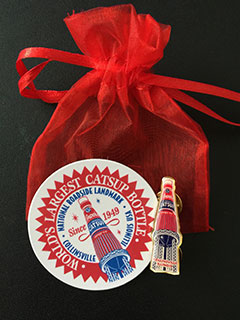 catsup bottle lapel pin gift